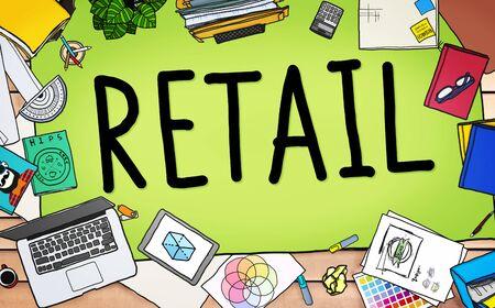 consumer: Retail Market Price Consumer Buying Concept Stock Photo