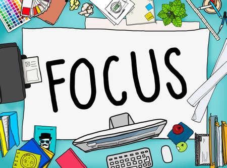 determine: Focus Determine Centre Concentrate Point Concept