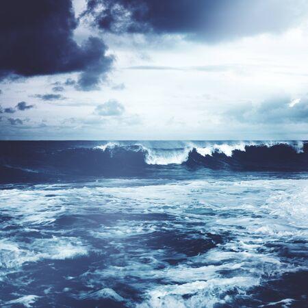 coastline: Beach Shore Coastline Storm Wave Concept