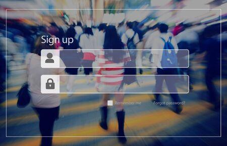 가입 비밀번호 개인 정보 보안 개념