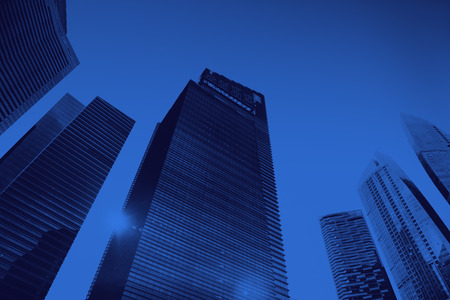personal perspective: Office Building Cityscape Personal Perspective Concept Stock Photo