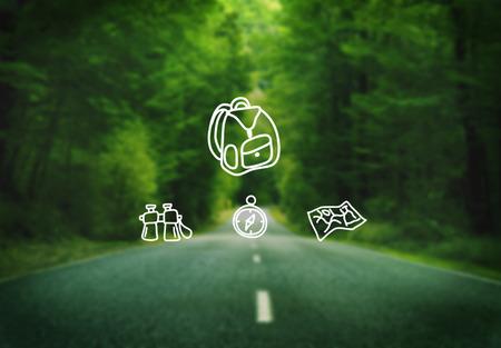 exploration: Travel Journey Destination Exploration Concept