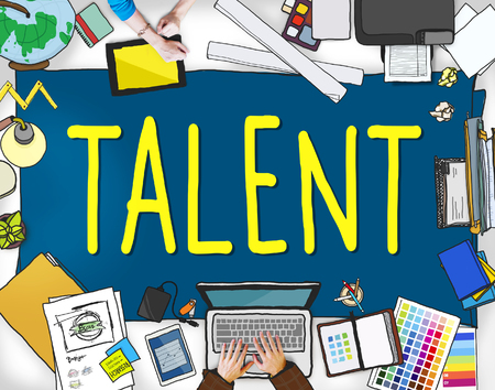 human capital: Talent Gifted Skills Abilities Capability Expertise Concept Stock Photo