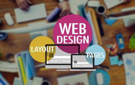Web Design Website WWW Layoutseite Anschlusskonzept Standard-Bild - 47062135