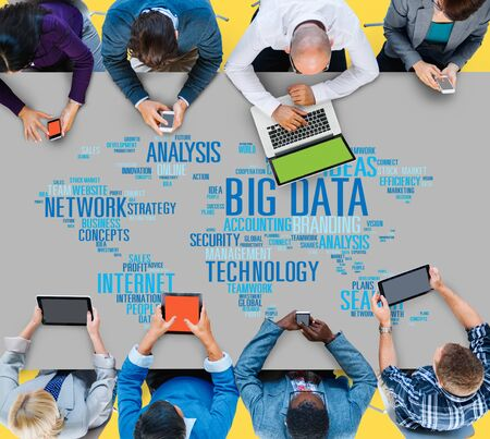 digital device: Big Data Network Technology Internet Online Concept Stock Photo
