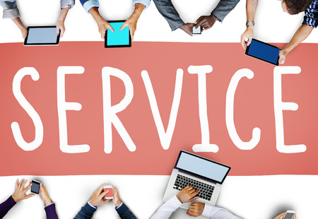 Service Support Bezorghulp Zorgconcept Stockfoto