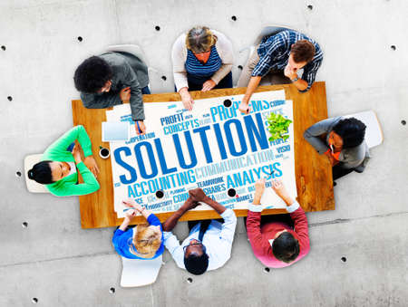 solution: Solution Success Sloved Decision Strategic Progress Concept
