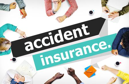 broken strategy: Accident Insurance Protection Damage Safety Concept