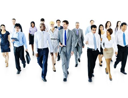 diversity: Diverse Business People Moving Forward Concept Stock Photo