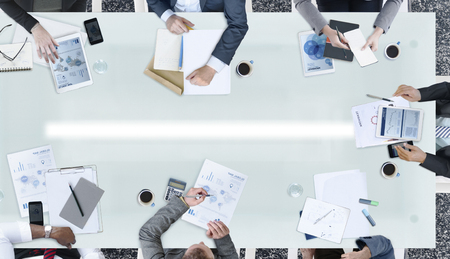 and white collar workers: Diverse Business People Meeting Office Concept Stock Photo