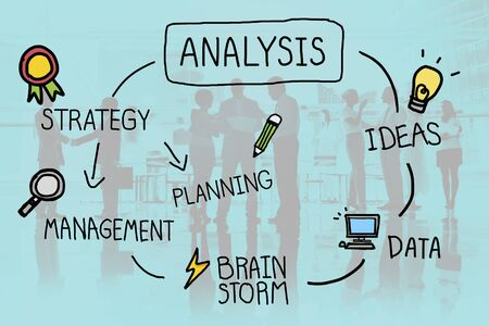 information analysis: Analysis Strategy Study Information Planning Concept Stock Photo