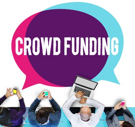 fundraising: Crowd Funding Contribution Donate Fundriser Concept