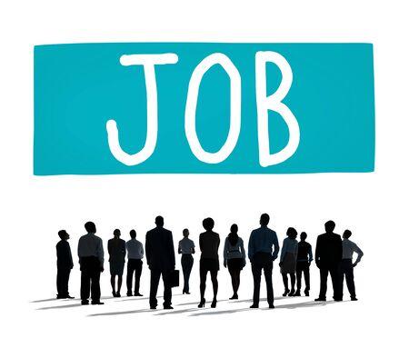 employing: Job Employment Career Occupation Goals Concept Stock Photo