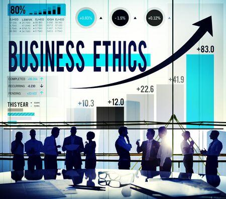 integridad: Ética Empresarial Integridad Concepto Responsabilidad Moral Foto de archivo