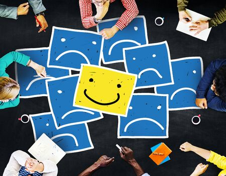 outstanding: Smiley Outstanding Positive Happiness Contrast Concept