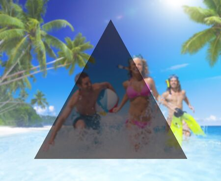 copy space: Summer Togetherness Friendship Triangle Copy Space Concept