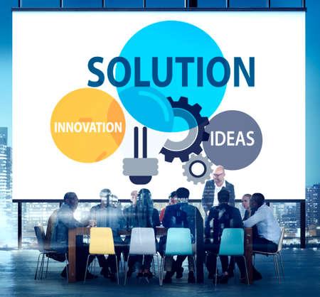 solution: Solution Strategy Ideas Innovation Creativity Concept