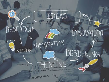 Ideas Thinking Strategy Creativity Planning Inspiration Concept Stock Photo