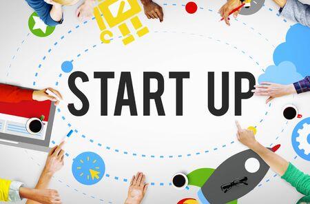 idea: Start Up Goals Growth Success Plan Business Concept Stock Photo