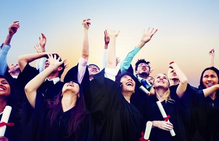 Student Celebration Education Graduation Happiness Concept Banque d'images