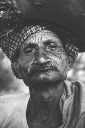 grumpy old man: Indigenous Senior Indian Man Grumpy Camera Concept