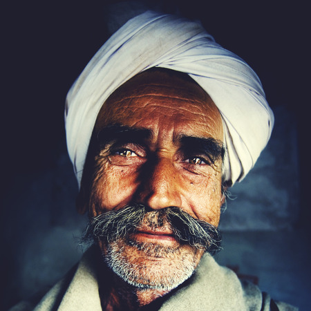 indian head: Indigenous Senior Indian Man Looking at the Camera Concept