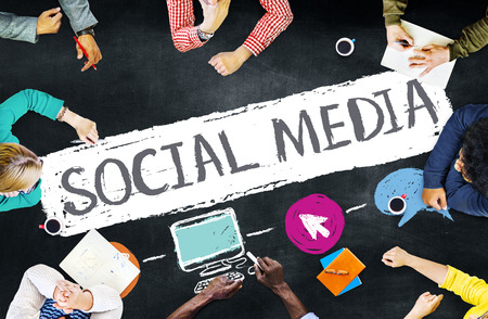 social network: Social Media Social Networking Technology Connection Concept