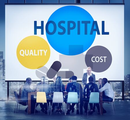 quality: Hospital Quality Cost Healthcare Treatment Concept Stock Photo