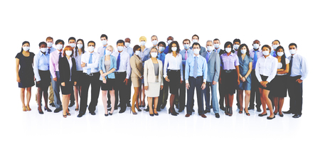 large group of business people: Large Group Business People Keeping Silence Stock Photo