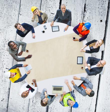 board room: Architect Engineer Meeting People Brainstorming Concept