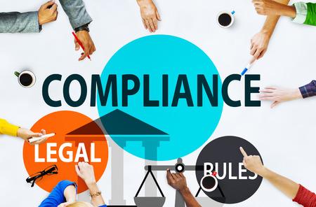 Compliance Legal Rule Compliancy Conformity Concept Banque d'images