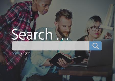 Pesquisa Seo on-line de navegação na Internet Concept Web