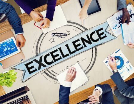 perfection: Exellence Ability Intelligence Perfection Proficiency Concept Stock Photo