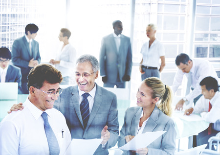 strategy meeting: Business People Meeting Discussion Corporate Team Concept Stock Photo