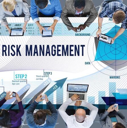 management meeting: Risk Management Control Security Safety Concept