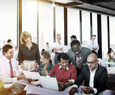 reuniones empresariales: Gente de negocios trabajo Conferencia Cooperación Trabajo en equipo Foto de archivo