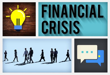 financiele crisis: Financial Crisis Accounting Banking Economics Concept Stockfoto