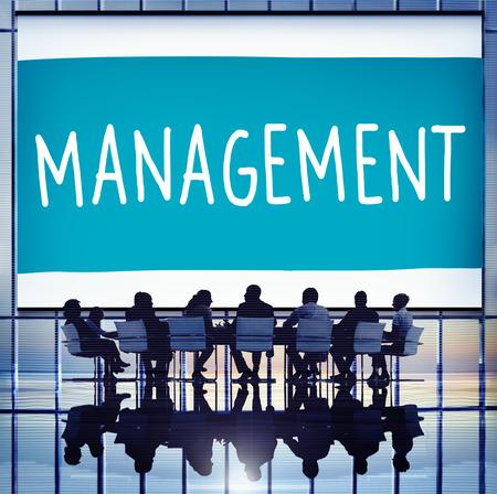 Beheer Organisatie Managing Director Aanpassen Concept Stockfoto