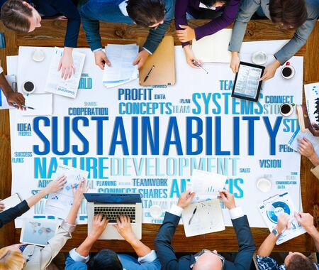 environmental conversation: Sustainability Environmental Conservation Ecology Concept Stock Photo