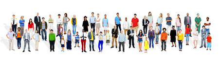 various occupations: Large Group of Multiethnic People Various Occupations Concept
