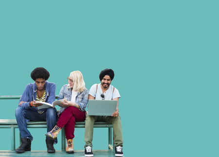 Apprentissage des élèves la diversité des médias sociaux Éducation Banque d'images - 47093406