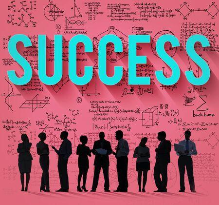 exito: Éxito Meta Logro Logro exitoso concepto