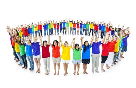 diversidad: Diversidad Los estudiantes de Educación y Aprendizaje Knwowledge felicidad Foto de archivo