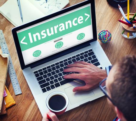 Prestations d'assurance-Concept Protection Sécurité Banque d'images