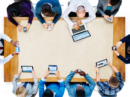 people working together: Diversity Business Team Planning Board Meeting Strategy Concept Stock Photo