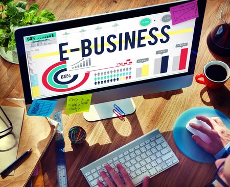 increase business: E-business Internet Networking Website Commerce Concept