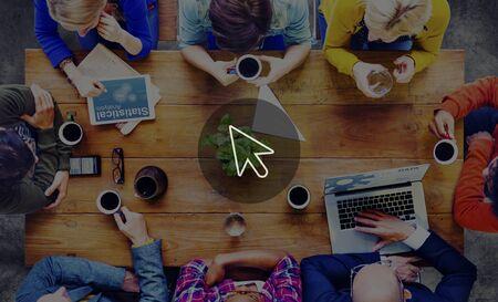 lluvia de ideas: Puntero Selección Cursor Conexión de Redes Concepto
