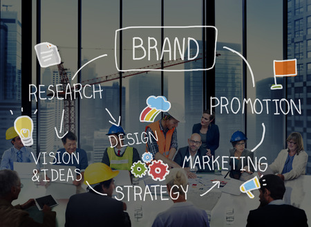 Brand Marketing Advertising Branding Design Trademark Concept Stockfoto