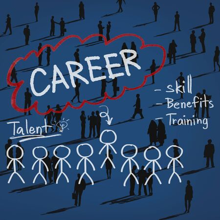 social gathering: Careers Employment Job Recruitment Occupation Concept
