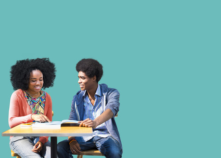 african american: African Students Studying Learning Education Stock Photo
